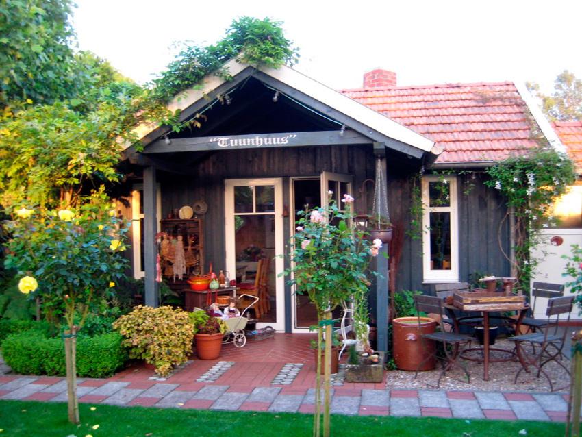 Gartenhaus mauern ist das erlaubt