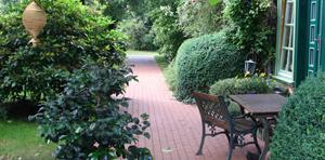 Hofgarten tom olen Hus im Wendland